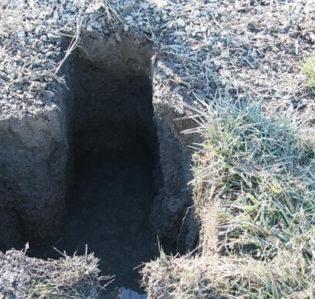 hydrovac trench